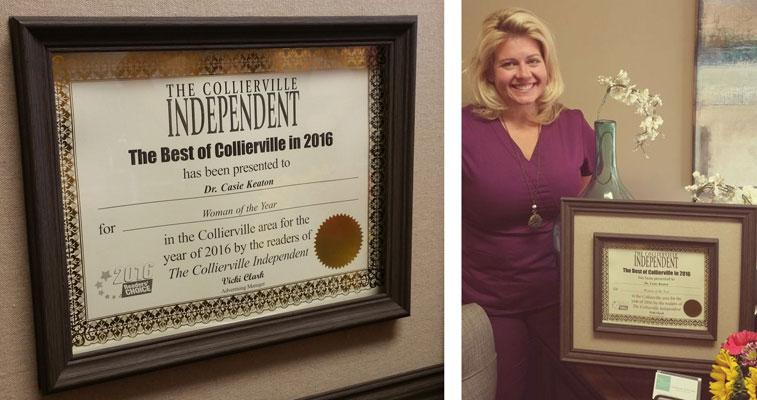 Dr. Casie Keaton Collierville Independent Award